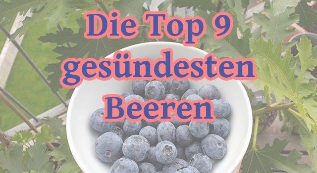 Die Top 9 gesündesten Beeren