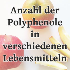 Polyphenolgehalt verschiedener Lebensmittel