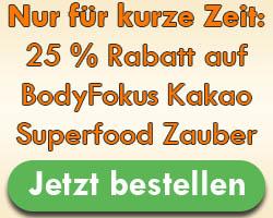 BodyFokus Kakao Superfood Zauber Rabatt